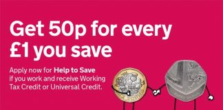 Get 50p for every £1 you save